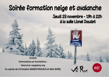 Neige et avalanche Formation